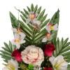 Ramo rosas artificiales bicolor y gladiolos blancos · Funerario · Ramos flores artificiales 4 · La Llimona home