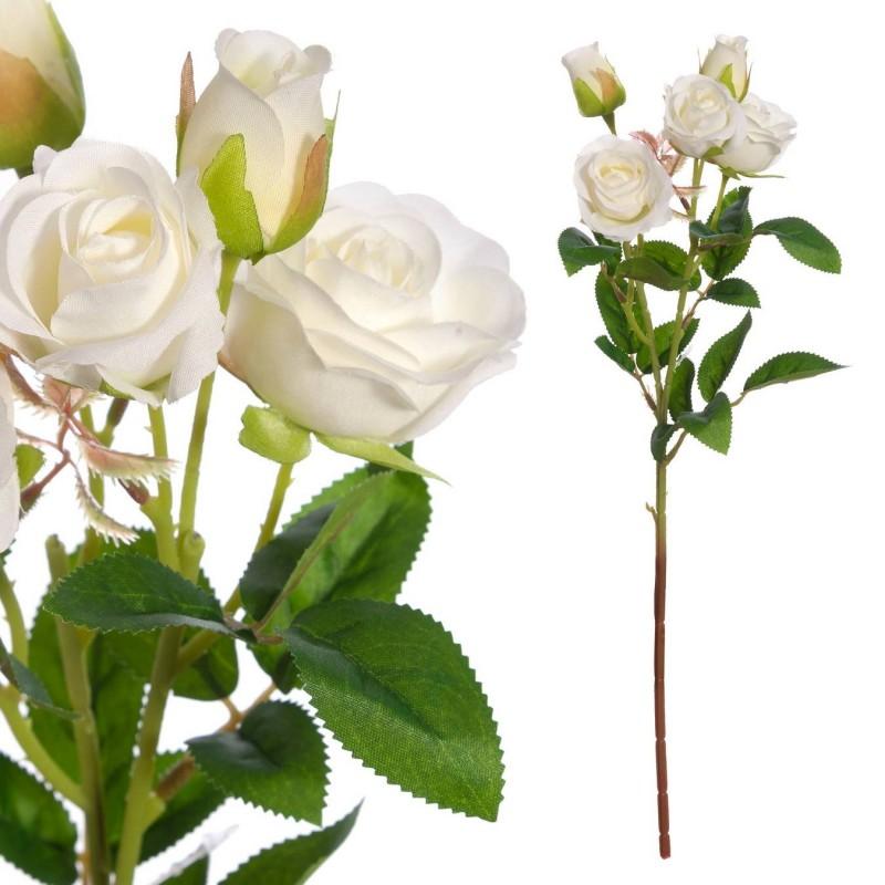 Mini rosas artificiales blancas 42 - Flores artificiales - Rosas artificiales