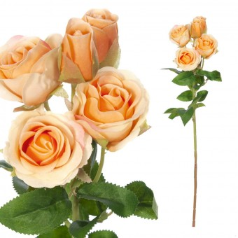 Mini rosas artificiales naranja 42 - Flores artificiales - Rosas artificiales