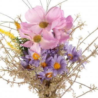 Ramo flores cosmos y margaritas artificiales silvestres - Flores artificiales - Ramos flores artificiales 2