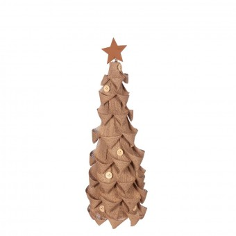 Árbol Navidad artificial arpillera 57 - Navidad