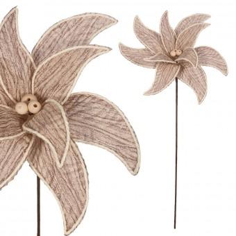 Poinsettia artificial exótica 35 - Flor artificial diversa - Navidad