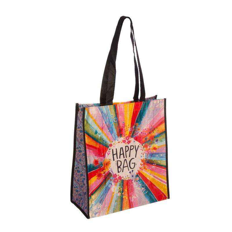 Natural Life bolsa compras grande 'Happy bag' flores reutilizable - Natural Life