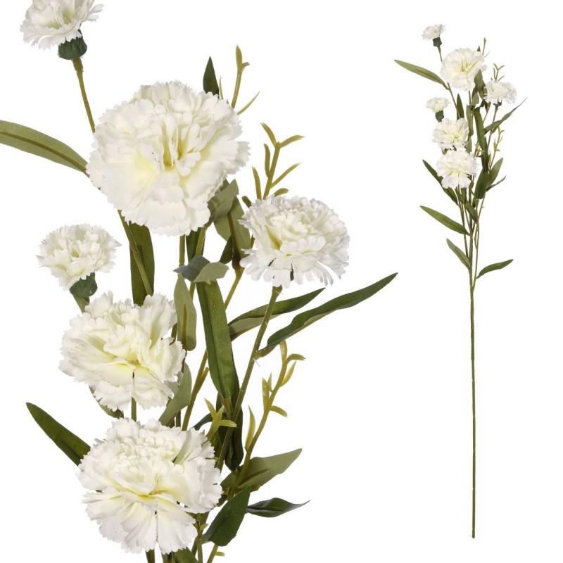 Rama clavel artificial blanca 70 · Flores artificiales · Flor artificial diversa · La Llimona home