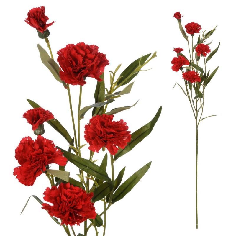 Rama claveles artificiales rojos 70 - Flores artificiales - Flor artificial diversa
