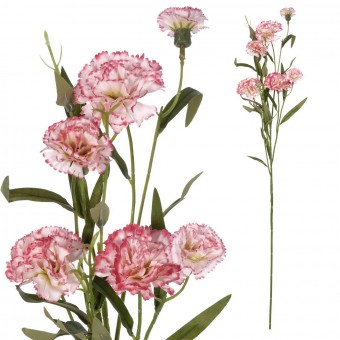 Rama clavel artificial bicolor 70 · Flores artificiales · La Llimona home