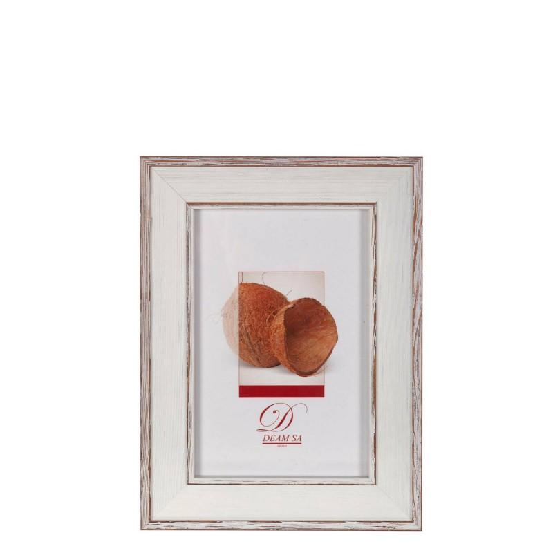 Portafotos aralia madera 13x18 blanco - Marcos portafotos