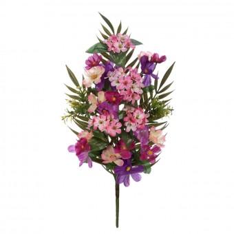 Flores artificiales · Funerario · Ramos flores artificiales · Ramo cosmos artificiales lilas y phlox rosadas · La Llimona home