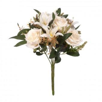 Ramo rosas artificiales crema y liliums · Flores artificiales · Ramos flores artificiales 2 · La Llimona home
