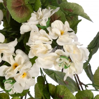 Geranio colgante artificial blanco 75 · Geranios artificiales · Plantas colgantes artificiales