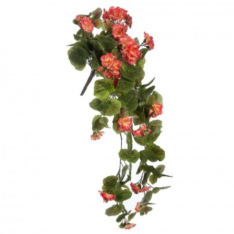 Geranio colgante artificial salmón 75 - Plantas artiiciales - Geranios artificiales - Plantas colgantes artificiales 5