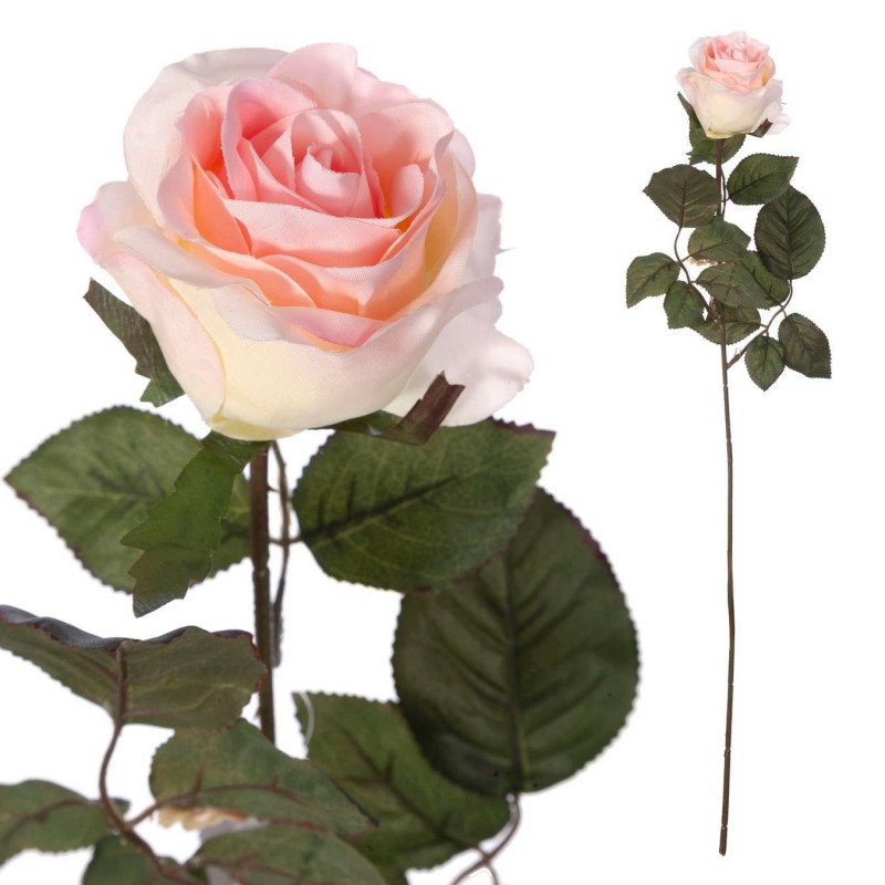 Rosa artificial rosada bicolor 67 - Flores artificiales - Rosas artificiales