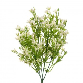 Bush mini flores artificiales blancas 35 · Flores artificiales · La Llimona home