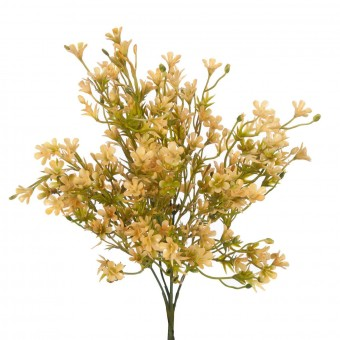 Bush mini flores artificiales amarillas 35 - Flores artificiales - Flor artificial diversa