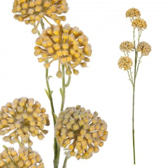 Rama allium artificial amarilla 60 · Flores artificiales · La Llimona home