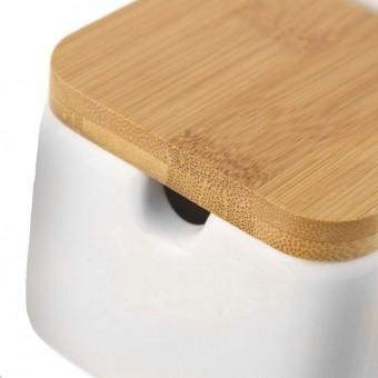 Azucarero cerámica blanco bambú · Hogar · Cocina, mesa y porta alimentos 3 · La Llimona home