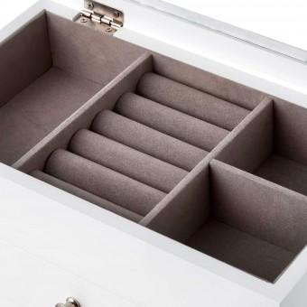 Joyero rectangular blanco tapa cristal · Hogar · Decoración y compratimentos 3 · La Llimona home