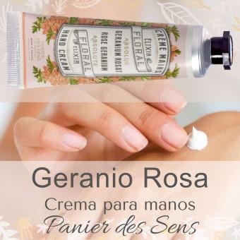 Crema manos natural Geranio Rosa Panier des  Sens · Cosmética natural · La Llimona home