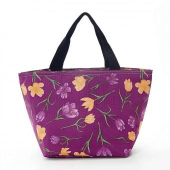 Bolsa isotérmica flor lila · Cocina, mesa y porta alimentos