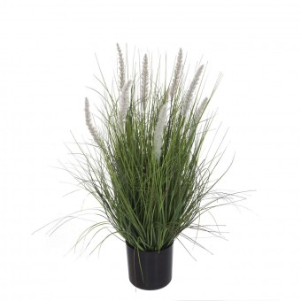 Planta grass artificial onion blanca 61 con maceta · Plantas artificiales con flores · La Llimona home