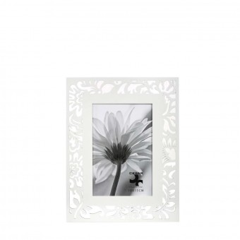 Portafotos calado hojas madera 10x15 blanco · Marcos portafotos · La Llimona home