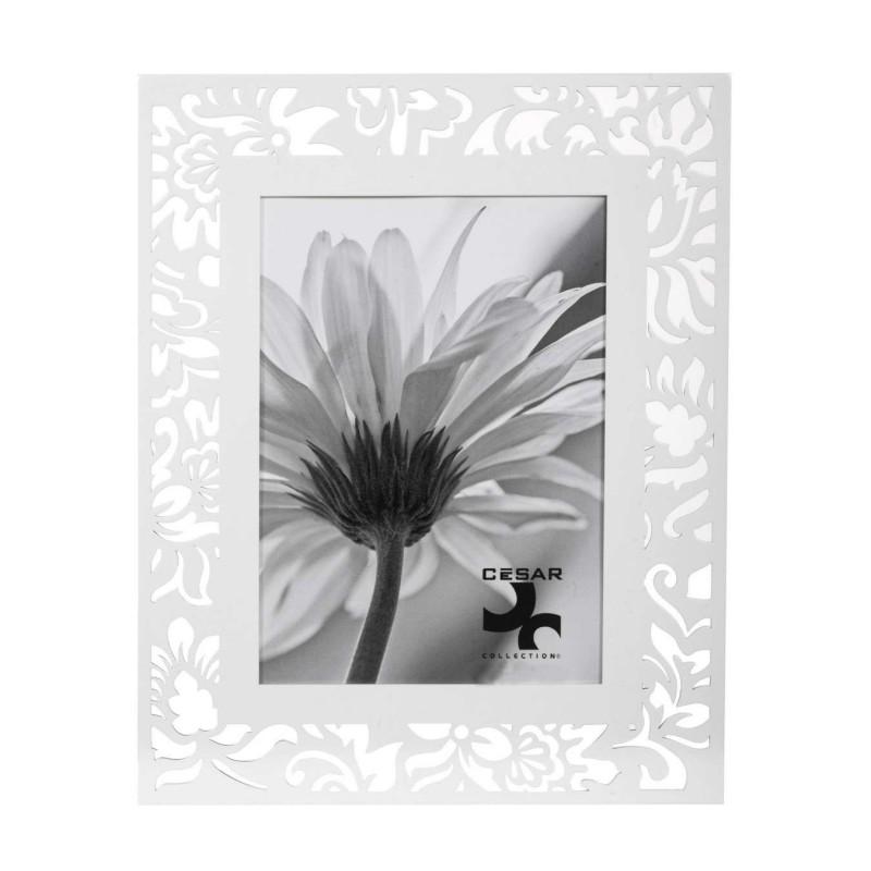 Portafotos calado hojas madera 20x25 blanco · Marcos portafotos · La Llimona home