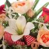 Jardinera rosas rojas artificiales peonías y liliums 30 - Funerario - Jardineras, arreglos y centros artificiales 4