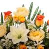 Jardinera rosas naranja artificiales peonías y liliums 30 - Funerario - Jardineras, arreglos y centros artificiales 4