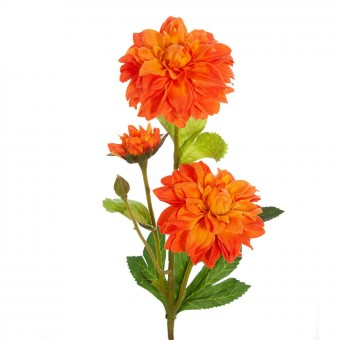 zinnia artificial naranja 50 - Flor artificial