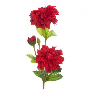 zinnia artificial roja 50 - Flores artificiales - La Llimona home