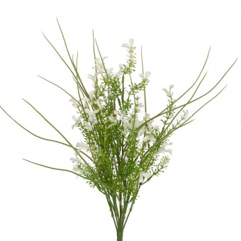 Mata flor artificial blanca grass 47 - Plantas artificiales