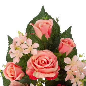 Ramo rosas artificiales salmóny flores de manzano 54 · Funerario · Ramos flores artificiales · La Llimona home