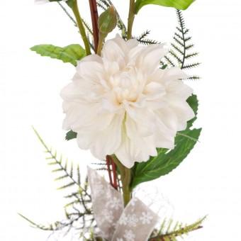 Arreglo floral zinnias artificiales blancas maceta · Arreglo floral maceta artificial crisantemos naranja · La Llimona home 3