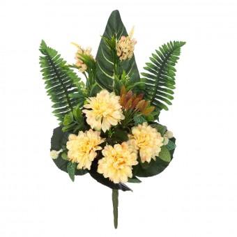 Ramo dalias artificiales amarillas 54 · Funerario · Ramos flores artificiales · La Llimona home