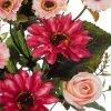Ramo rosas artificiales fucsia y gerberas 39 - funerario - Ramos flores artificiales - La Llimona home 2