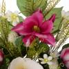 Ramo magnolias y proteas artificiales fucsia 54 - Funerario - Ramos flores artificiales 2