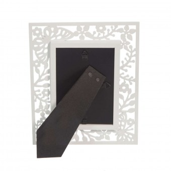 Portafotos calado mariposas madera 10x15 blanco · Marcos portafotos · La Llimona home