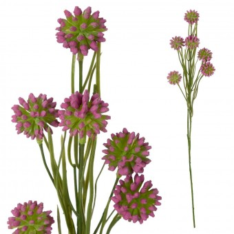 Allium artificial malva 55 · Flores artificiales - La Llimona home