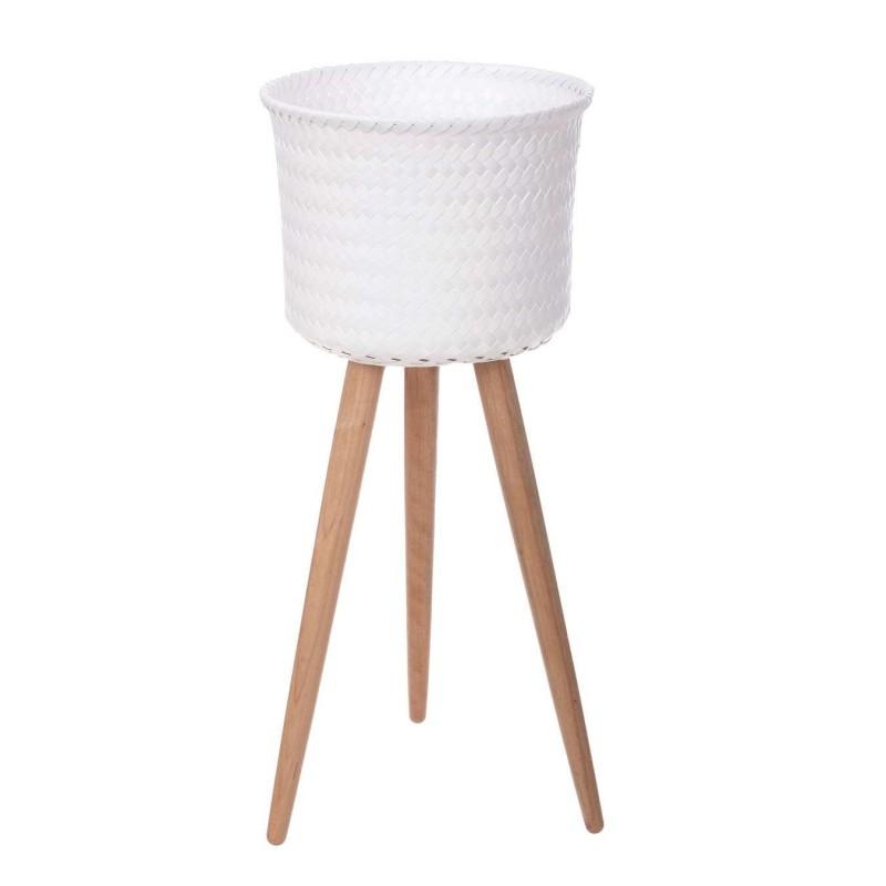 Macetero cesta 3 pies Up High blanco · Macetas y jardín · La Llimona home