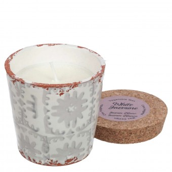 Vela Wax design perfumada Jazmín blanco maceta 10 · Velas ecológicas naturales · La Llimona home