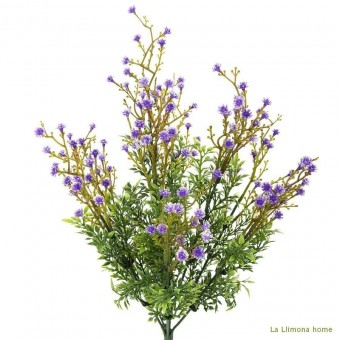 Planta artificial bush gypsophila lila