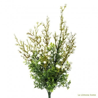 Planta artificial bush gypsophila blanca