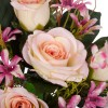 Ramo orquídeas y rosas artificiales rosadas 40 · Flor artificial · Funerario · Ramos flores artificiales cementerio · La Llimona