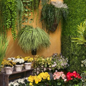 Mini hoja colgante verde artificial 110 · Plantas artificiales · Plantas colgantes artificiales · La Llimona home