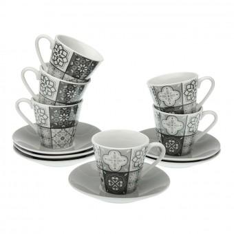 Set 6 tazas café grey mosaic · Cocina, mesa y porta alimentos · La Llimona home