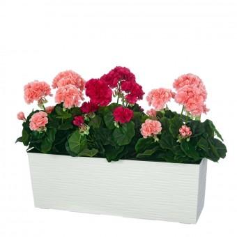 Planta geranio artificial rosa 35 · Plantas artificiales · La Llimona home