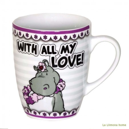 Taza Nici 'With all my love'. Alto: 10 cms.