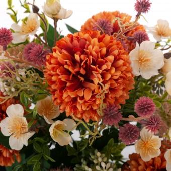 Ramo alliums y mums artificiales naranja 42 · Flor artificial · Ramos flores artificiales · La Llimona