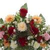 Jardinera gerberas y rosas artificiales clavellinas 30 · Funerario · Jardineras, arreglos y centros artificiales