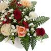 Jardinera gerberas y rosas artificiales pom pom 29 · Funerario · Jardineras, arreglos y centros artificiales